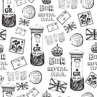 Motif de courrier royal