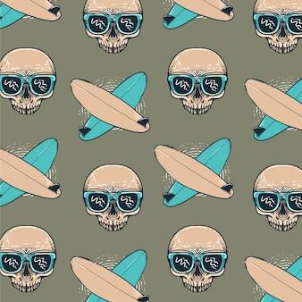 Motif de crâne d'été