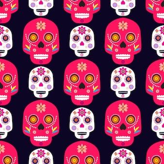 Motif de crâne mexicain