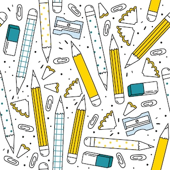 Motif de crayons