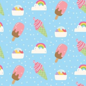 Motif de crème glacée