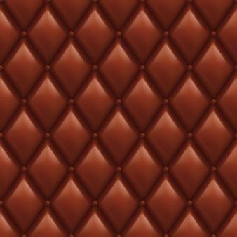 Motif en cuir marron