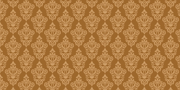 Motif damassé marron