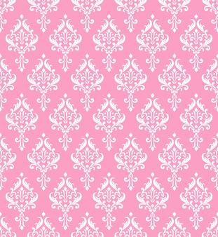 Motif damassé rose