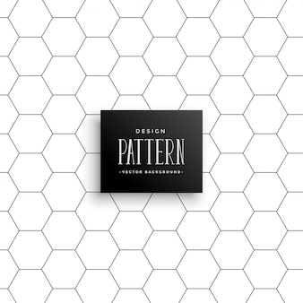 Motif de fond de ligne hexagonal minimal