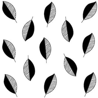 Motif de décor de feuilles