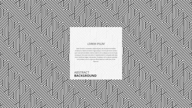 Motif décoratif abstrait en osier zigzag hexagonal