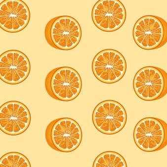Motif décoratif d'agrumes oranges.
