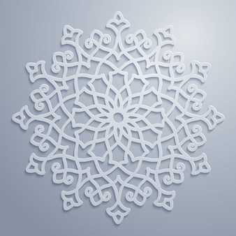 Motif décoratif arabe rond