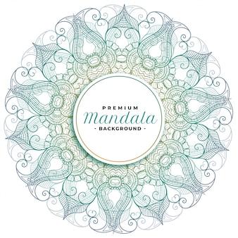 Motif décoratif d'art floral mandala