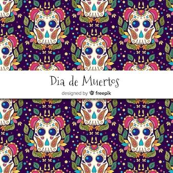 Motif décoratif dia de muertos