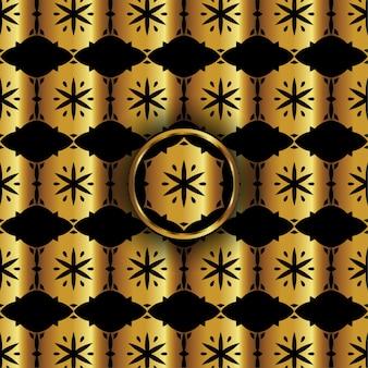 Motif décoratif golden hexagon