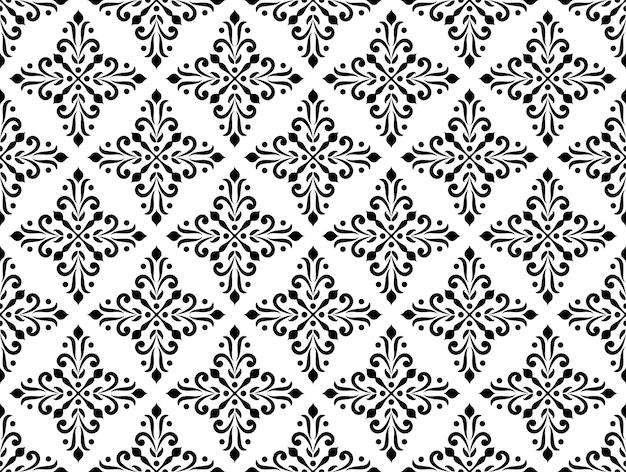 Motif décoratif de style baroque et damassé