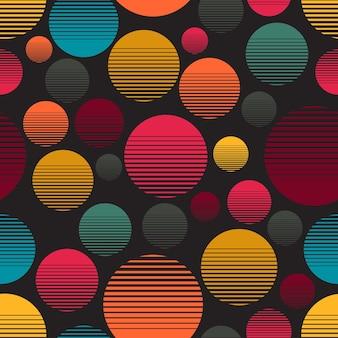 Motif de dégradé de couleur de cercle