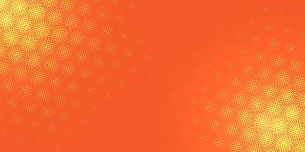 Motif en demi-teinte sur fond orange clair