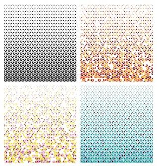 Motif de demi-teinte hexagonal
