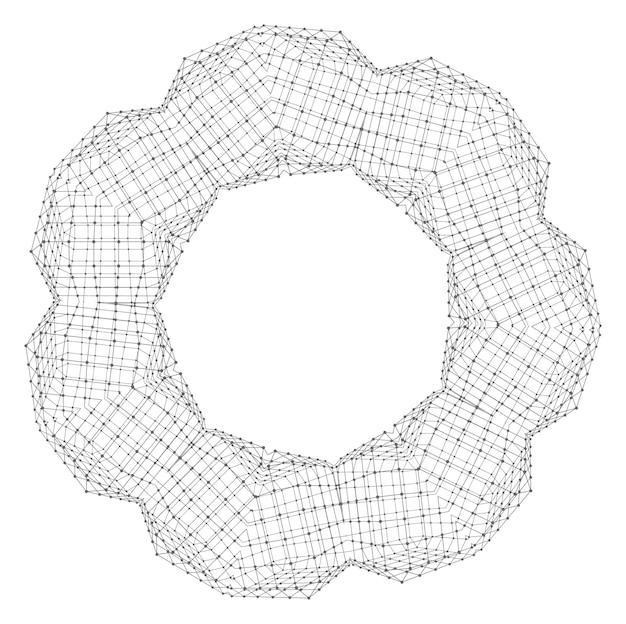Motif de dentelle ronde ornementale. ornement abstrait. orienter l'ornement traditionnel.