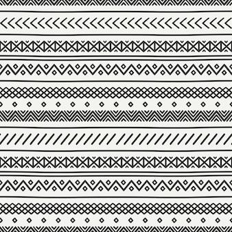 Motif dessiné main tribal