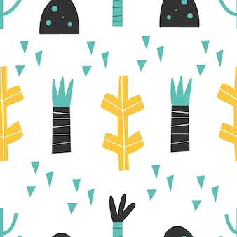 Motif - dessinés à la main abstrait enfantin conception d'impression transparente papier numérique illustration vectorielle