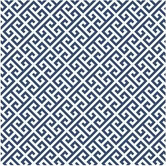 Motif diagonal méandre - fond d'ornement grec