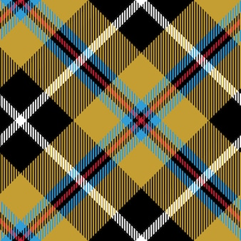 Motif diagonal sans soudure de tissu tartan de cornouailles