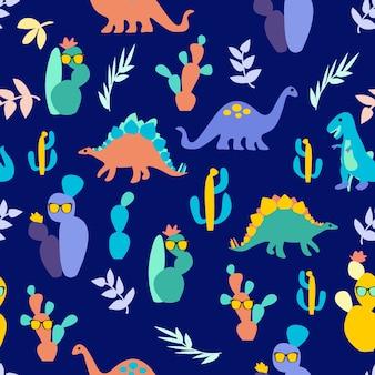 Motif de dinosaure imprimé