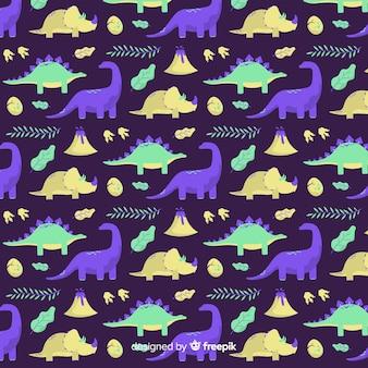 Motif de dinosaure plat