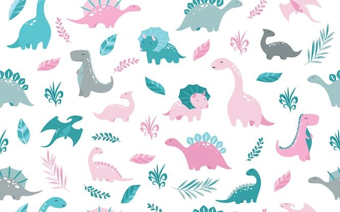Motif dinosaures