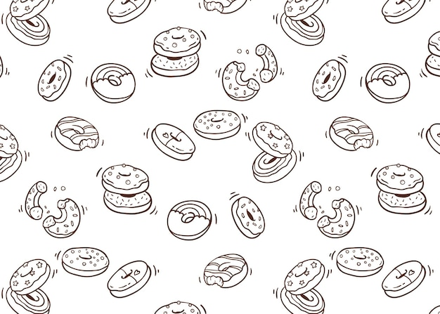 Motif de doodle dessert