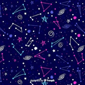 Motif du zodiaque coloré dessiné à la main