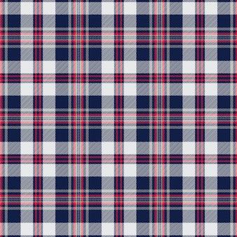 Motif écossais écossais bleu marine et blanc