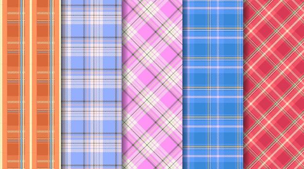 Motif écossais sans couture à carreaux tartan écossais