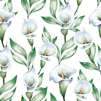 Motif élégant avec de belles fleurs