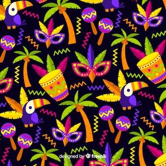 Motif d'éléments de carnaval brésilien