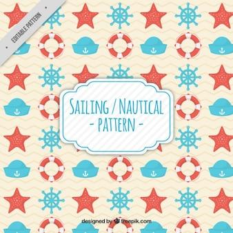 Motif d'éléments nautiques