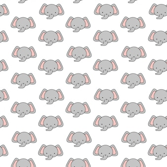 Motif d'éléphant bébé mignon
