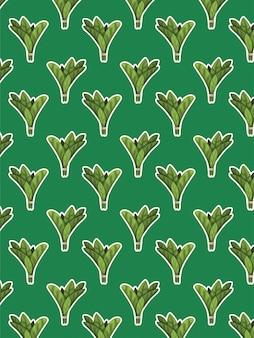 Motif d'épinards sur vert