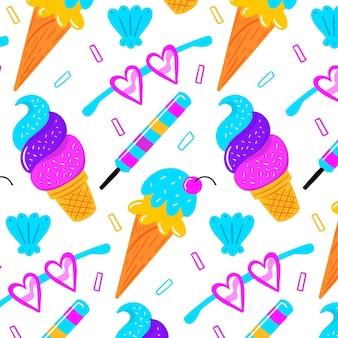 Motif d'été coloré