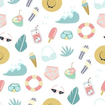 Motif d'été de plage colorée