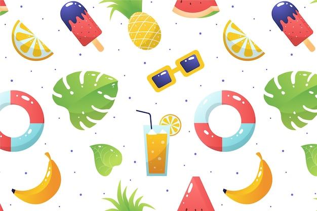 Motif d'été pour le papier peint zoom
