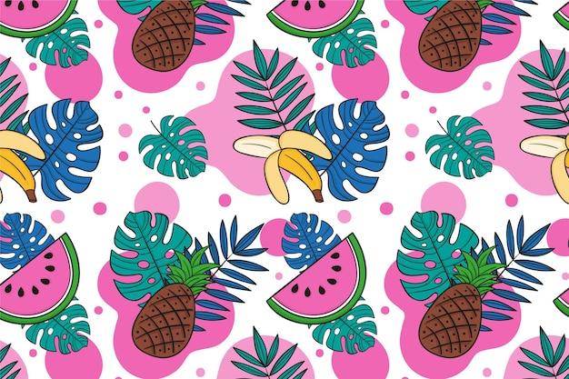 Motif d'été pour le thème du papier peint zoom
