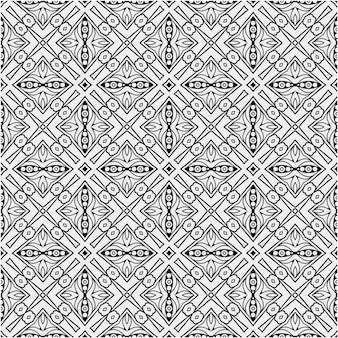 Motif ethnique avec une couleur de style noir et blanc