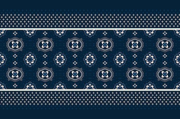 Motif ethnique géométrique oriental. modèle sans couture. conception pour tissu, rideau, fond, tapis, papier peint, vêtements, emballage, batik, tissu