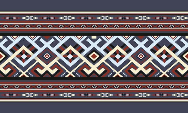 Motif Ethnique Géométrique Oriental Vecteur Premium