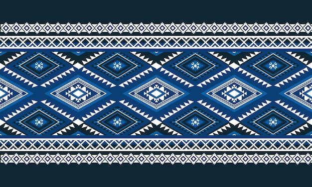 Motif ethnique géométrique sans couture. conception pour l'arrière-plan, tapis, papier peint, vêtements, emballage, batik, tissu, illustration vectorielle. style de broderie.