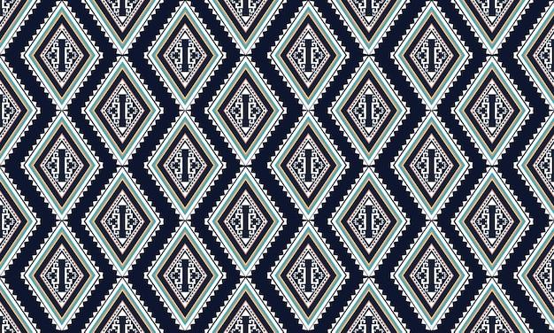 Motif ethnique géométrique. tapis, papier peint, vêtements, emballage, batik, tissu, style de broderie d'illustration vectorielle.