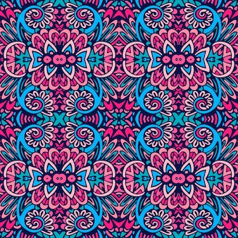 Motif ethnique en mosaïque pour tissu. modèle sans couture vintage mosaïque géométrique abstraite ornementale.