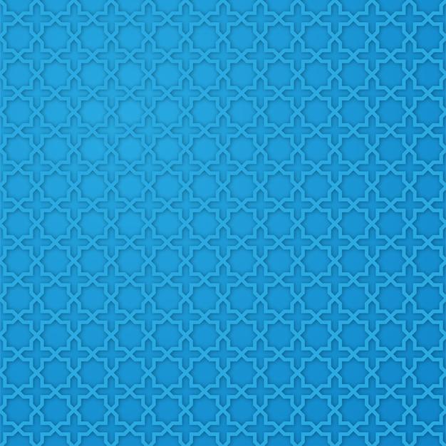 Motif d'étoile arabe avec la couleur bleue
