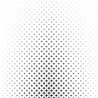 Motif d'étoile blanc noir - graphique d'arrière-plan abstrait à partir de formes géométriques