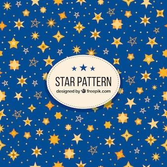 Motif étoile bleue créative